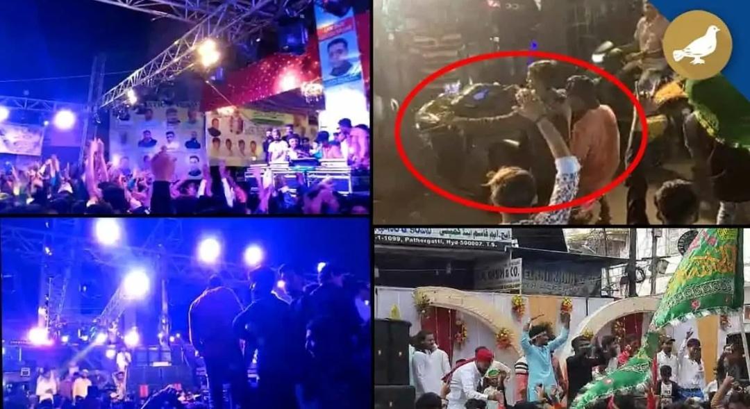 हैदराबाद: मिलाद उन नबी के मौके पर डीजे म्युजिक, डांस और बाइक स्टंट! 17